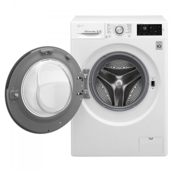 LG F4J6TN1W 8kg 1400rpm Smart ThinQ Washing Machine