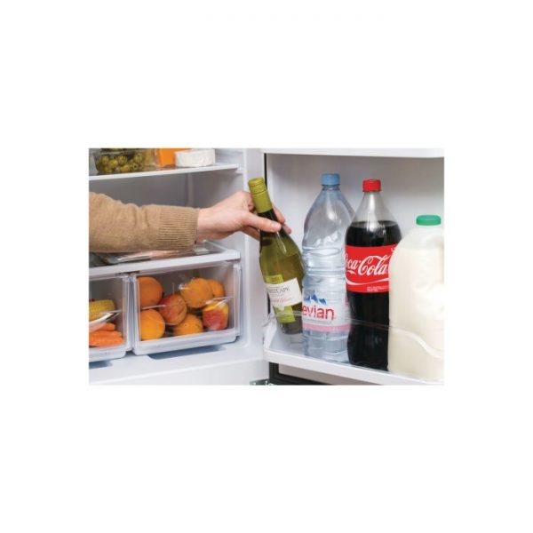 Hotpoint HBNF5517S Aquarius 50/50 Frost Free 225L Freestanding Fridge  Freezer - Silver